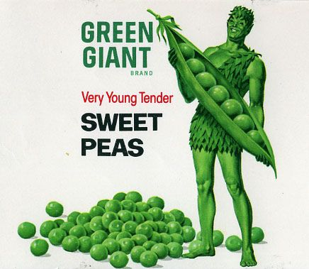 Green Giant Peas can label | Green characters, Vintage food labels, Green  giant