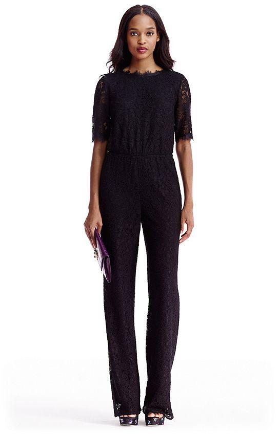 3d61f8e7831f DVF Kendra Lace Open Back Jumpsuit