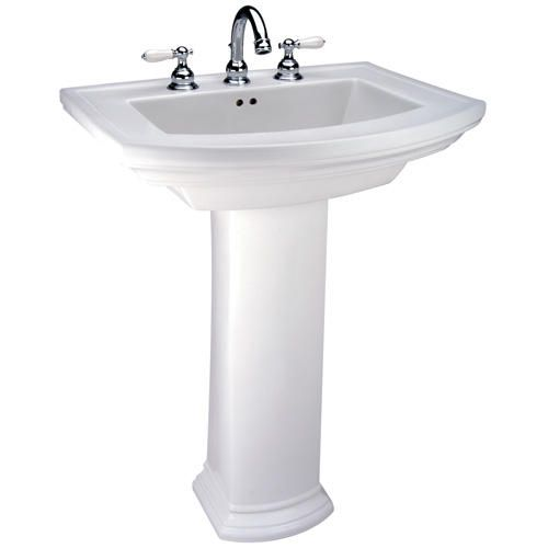 "Bathroom Sinks At Menards $208 barrett pedestal lavatory - 8"" faucet center at menards"