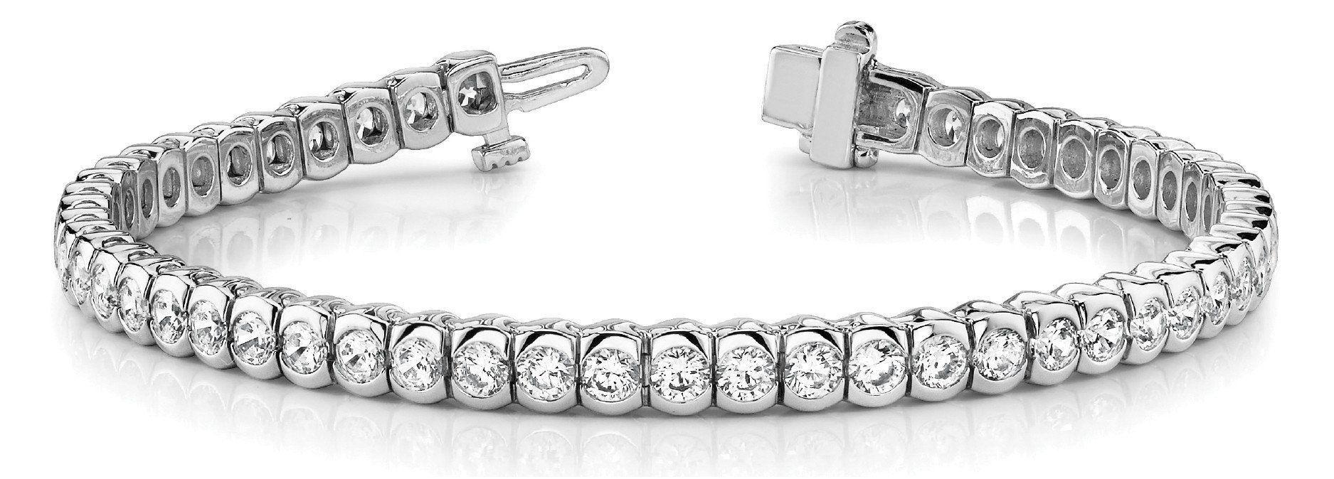 3 7 8 Ct Diamond Bracelet With F Color Vs Clarity Diamonds
