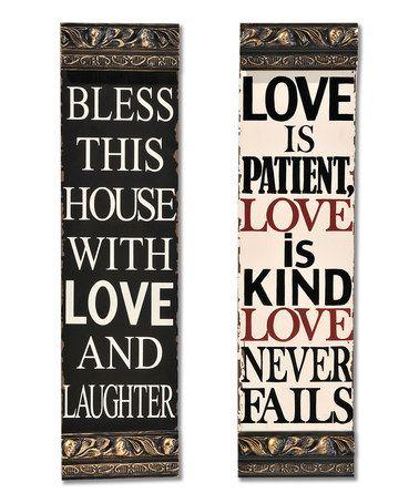 Look at this #zulilyfind! 'Love' Wall Sign Set #zulilyfinds