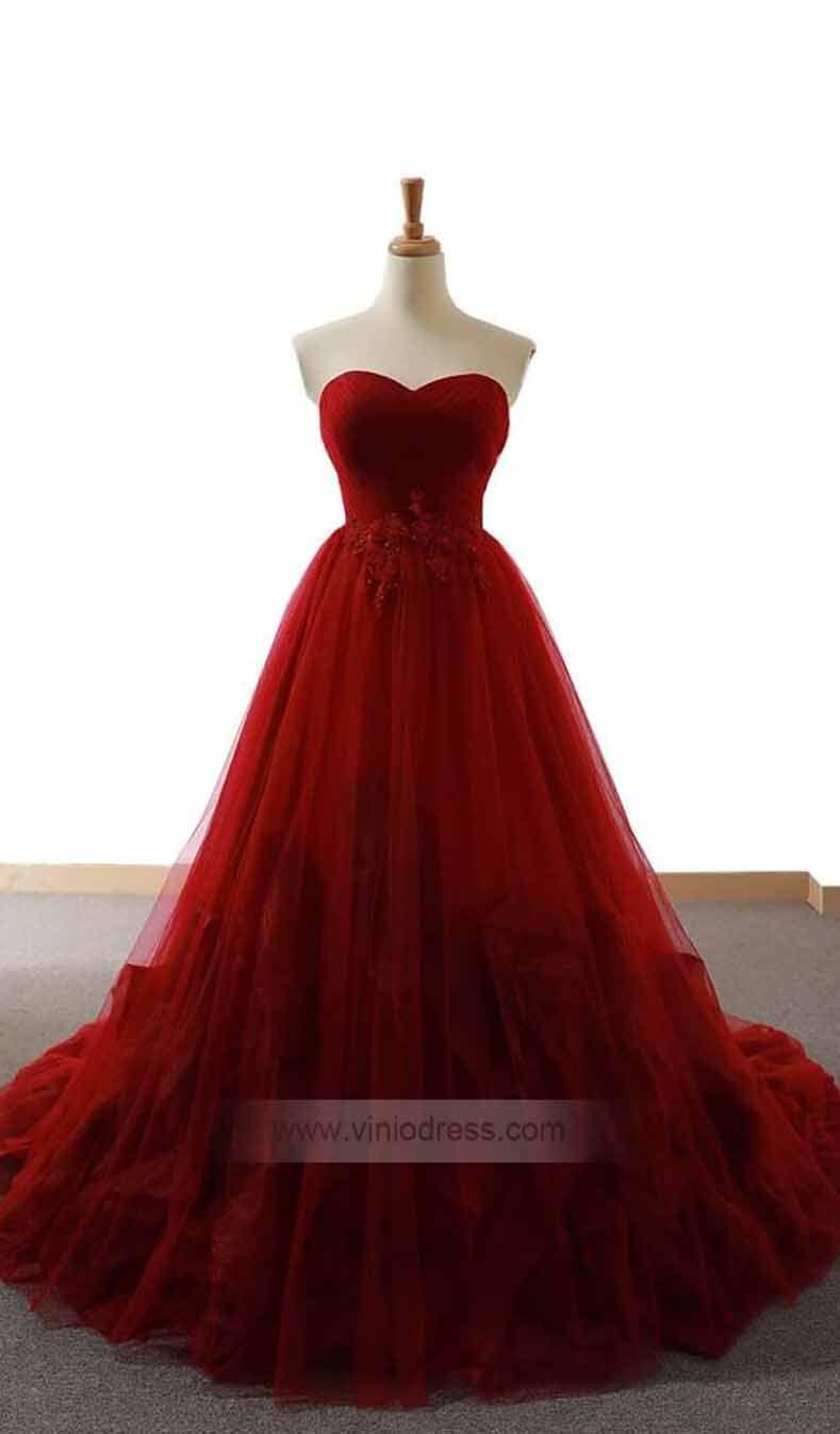 Dark Red Strapless Prom Dresses Dusty Rose Quinceanera Dress Fd1079 Burgundy Prom Dress Strapless Prom Dresses Dusty Rose Dress [ 1347 x 789 Pixel ]