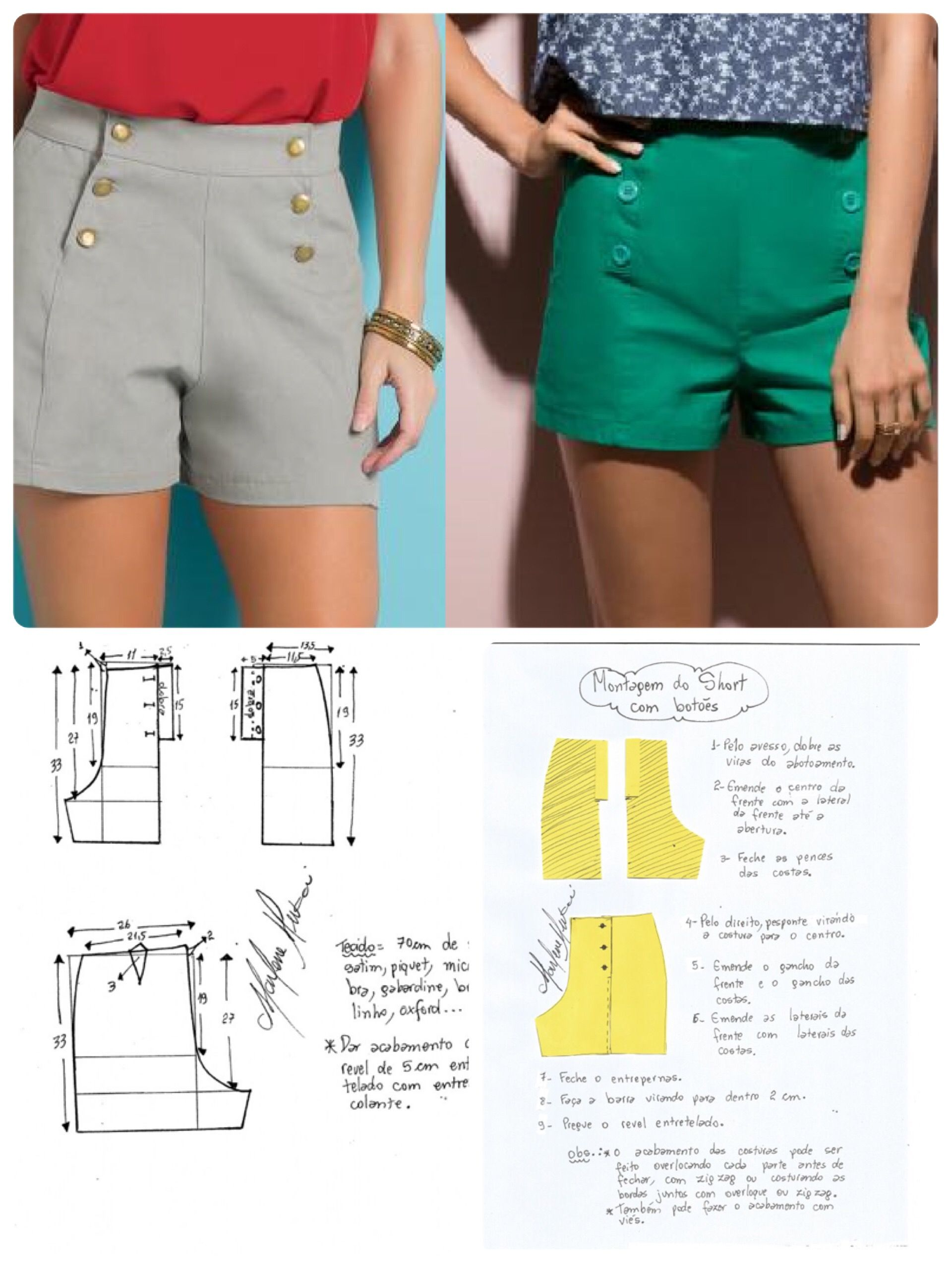 Hot pants pattern | llperez | Pinterest | Costura, Molde y Patrones