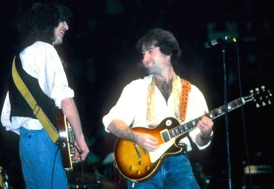 Jimmy Page (left) and Paul Rodgers