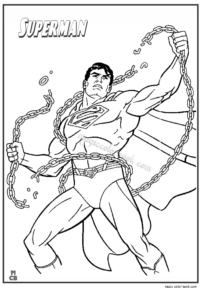 Superman Coloring Pages Printable 01 | Coloring | Pinterest
