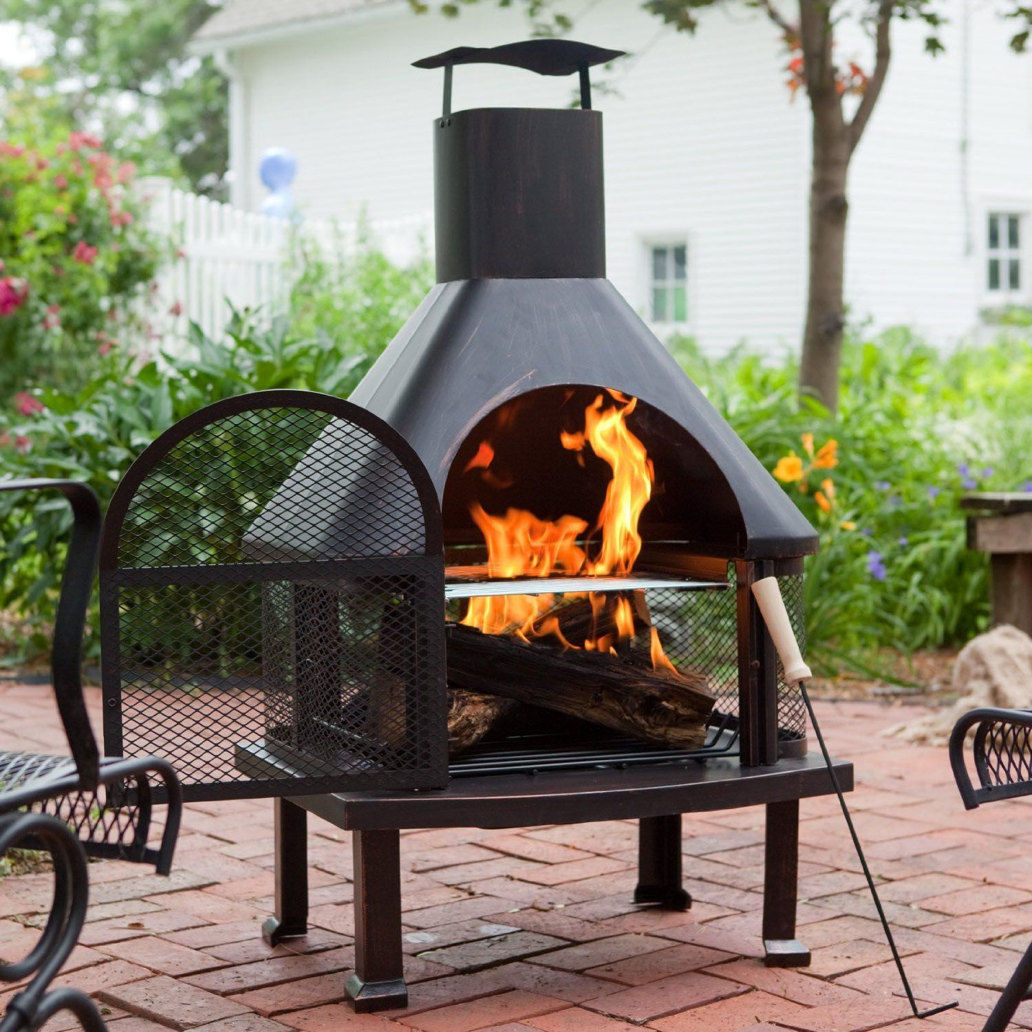 Outdoor Fire Pit Chimney Fireplace Design Ideas Fire Pit Chimney Outdoor Fireplace Patio Wood Burning Fire Pit