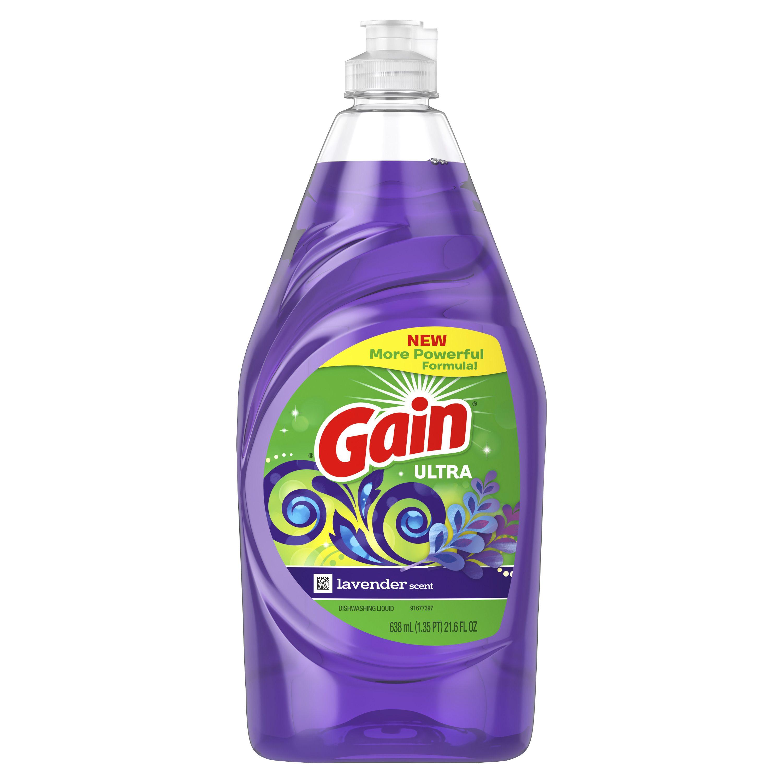 Gain ultra dishwashing liquid dish soap lavender 216 fl