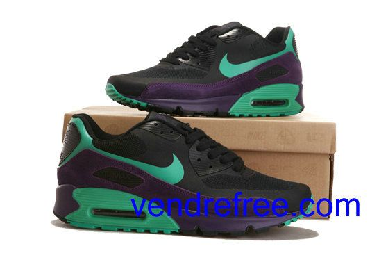 more photos 96a86 e75f2 order vendre pas cher homme chaussures nike air max 90 couleurnoirvert  69946 0b839