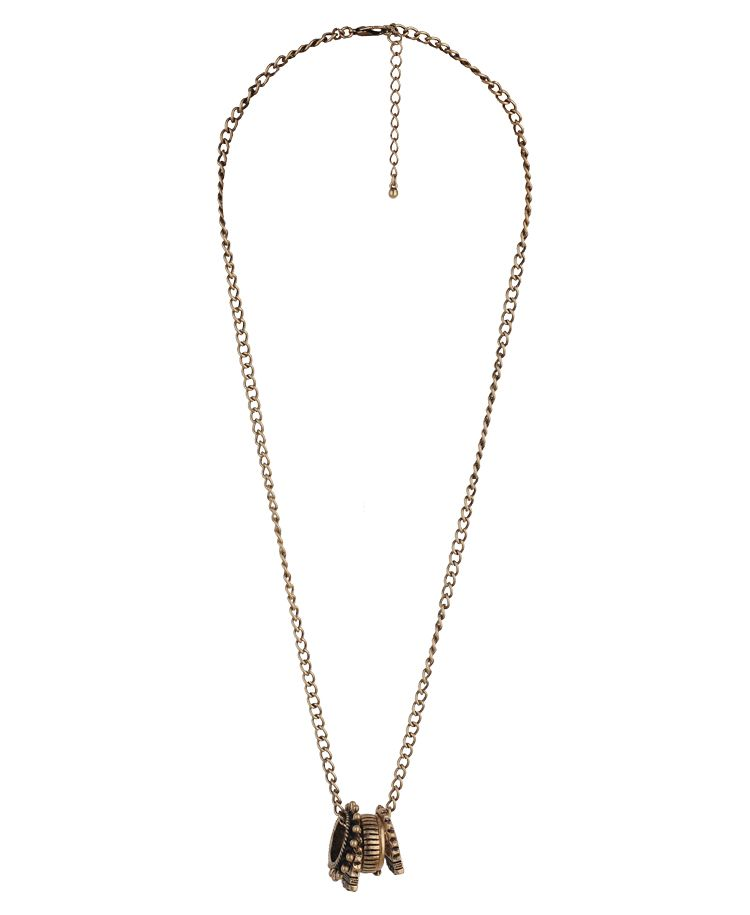 Etched Ring Necklace | FOREVER21 - 1000044296. LOVE.