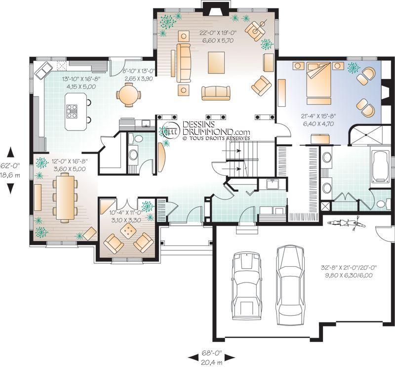 Classique W2661 Maison Laprise - Maisons pré-usinées Plan de