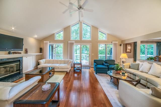 Vaulted Ceilings Highlight This Open Floor Plan Of The