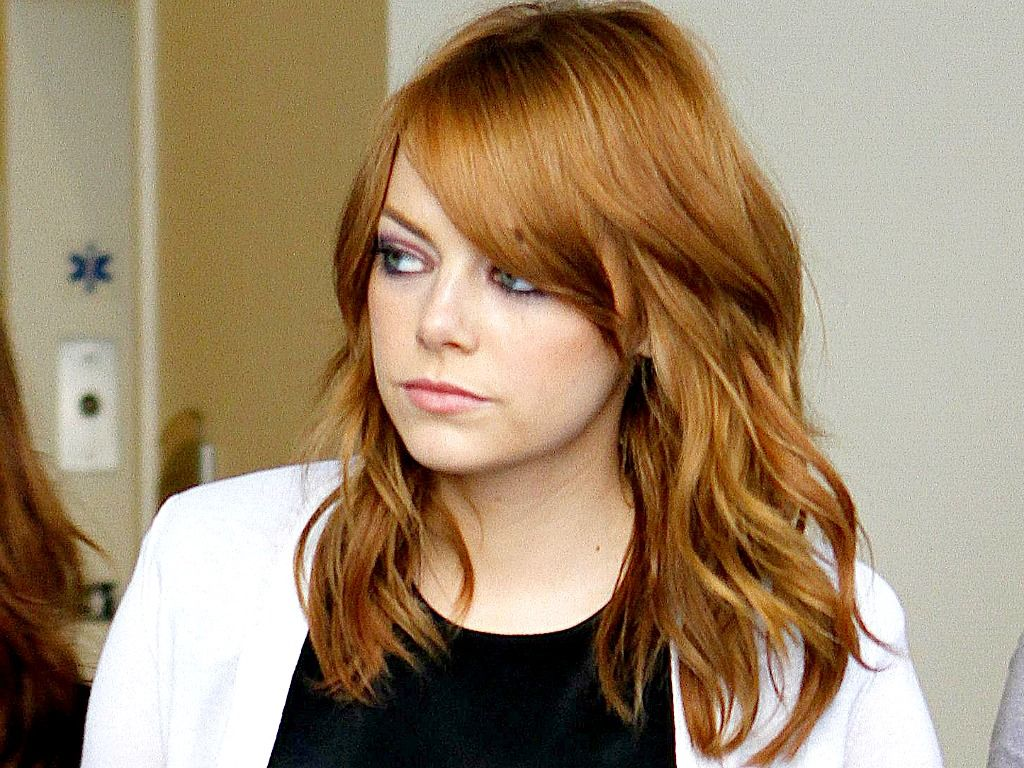 Emma Stone Wallpaperღ With Images Mid Length Hair Emma Stone