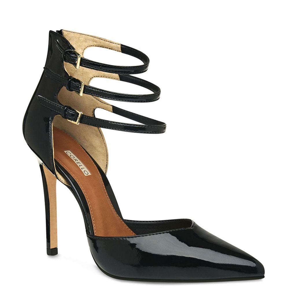 Scarpin Ankle Strap em Couro Verniz - Corello