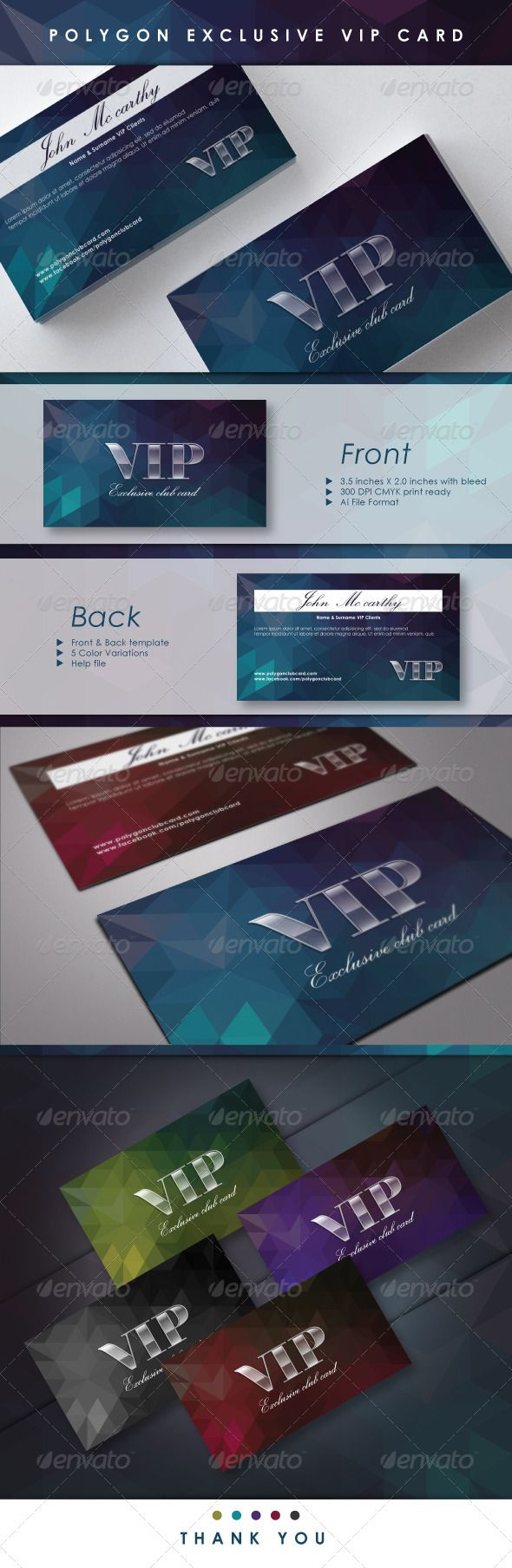 Polygon Exclusive Vip Card Graphicriver Graphics Pinterest