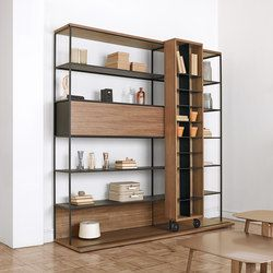 Shelving systems-Storage-Shelving-Literatura Open-Punt Mobles