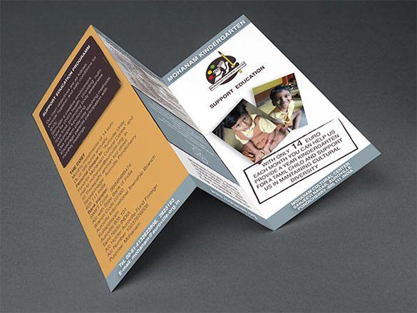 21+ Kindergarten Brochure Templates - Free PSD, EPS, AI, InDesign - kindergarten brochure template