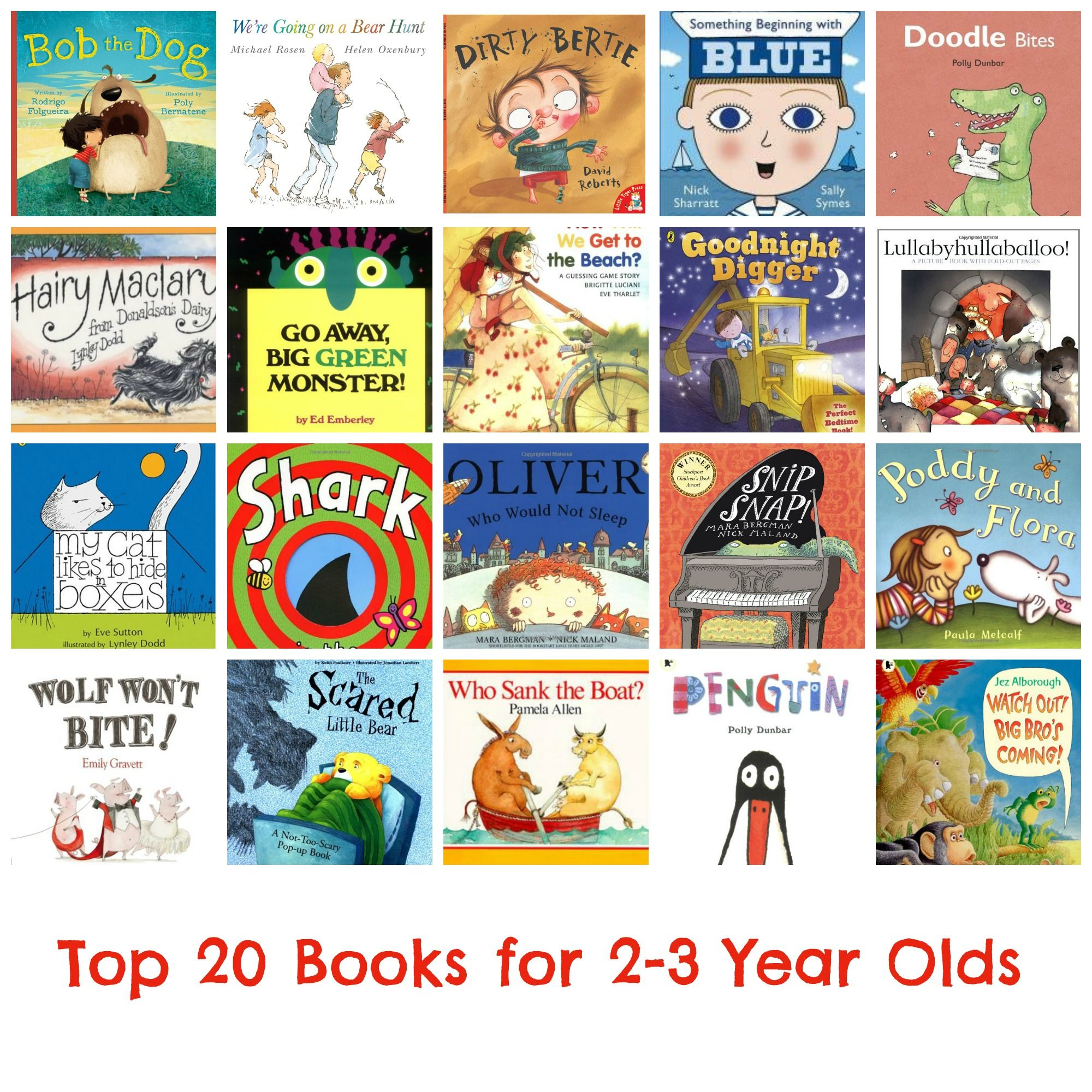 Top 20 Books For 2 3 Year Olds Bedtimereading Books Toddlers