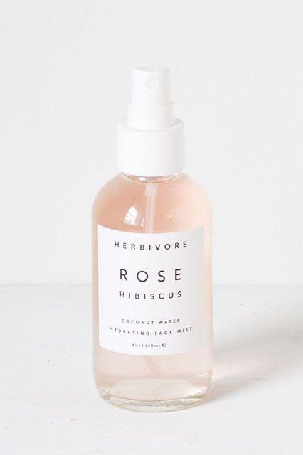 Herbivore Botanicals Rose Hibiscus Coconut Water Hydrating Face Mist, $32, available at Herbivore Botanicals.