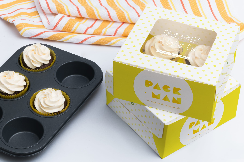 Four Cupcake Box Mockup 02 Box Mockup Free Psd Mockups Templates Mockup Free Psd