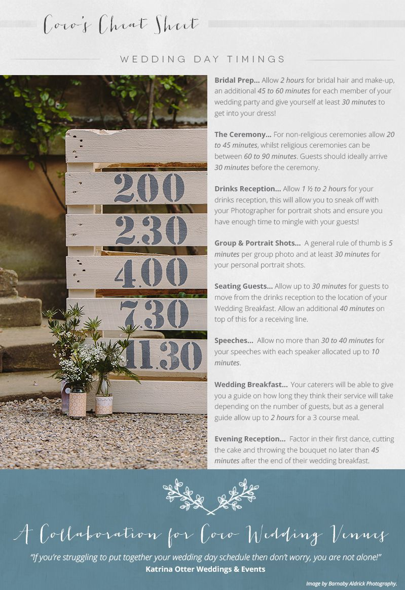 A Guide To Wedding Day Timings