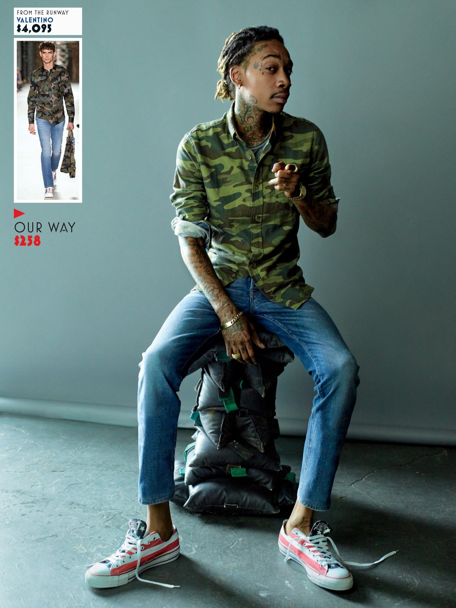 b2e85531e1436 Wiz Khalifa Shows Us How to Wear Spring s Best for Less