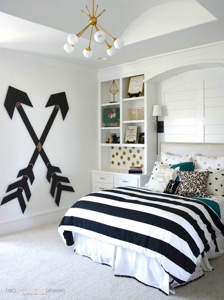 Tween Girls Room wooden wall arrows | tween girls, wooden walls and tween