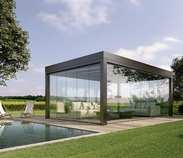Terrassenüberdachung aus Aluminium SDL Acubis