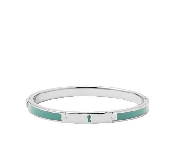 Color Keyhole Bangle - Aqua  $58.00  Style: JF00384