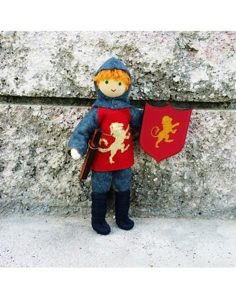 Dollhouse Castle Knight Doll red tunic   Red hair 5 Gallery