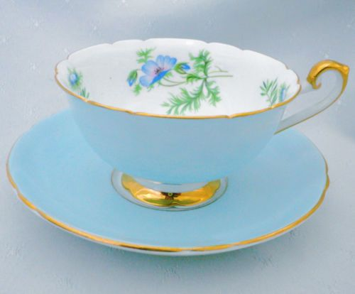 SHELLEY-BOSTON-NOT-LINCOLN-TEA-CUP-AND-SAUCER-READ-DESCRIPTION