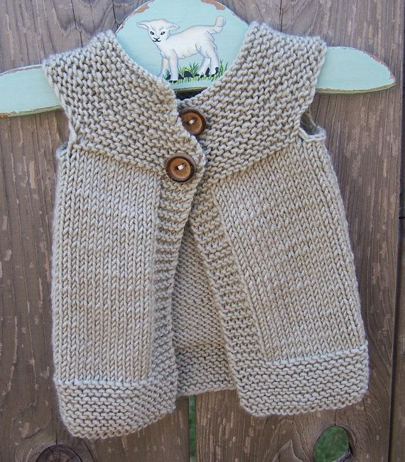 DIY Inspiration Simple but effective top,down yoke shaped baby cardigan.