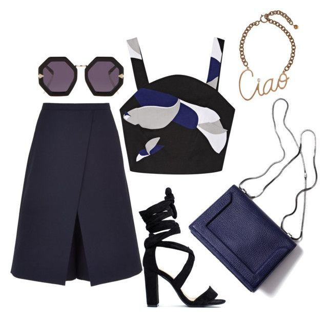 """""""Untitled #524"""" by dvurechenskay ❤ liked on Polyvore featuring TIBI, Karen Walker, Lanvin and 3.1 Phillip Lim"""