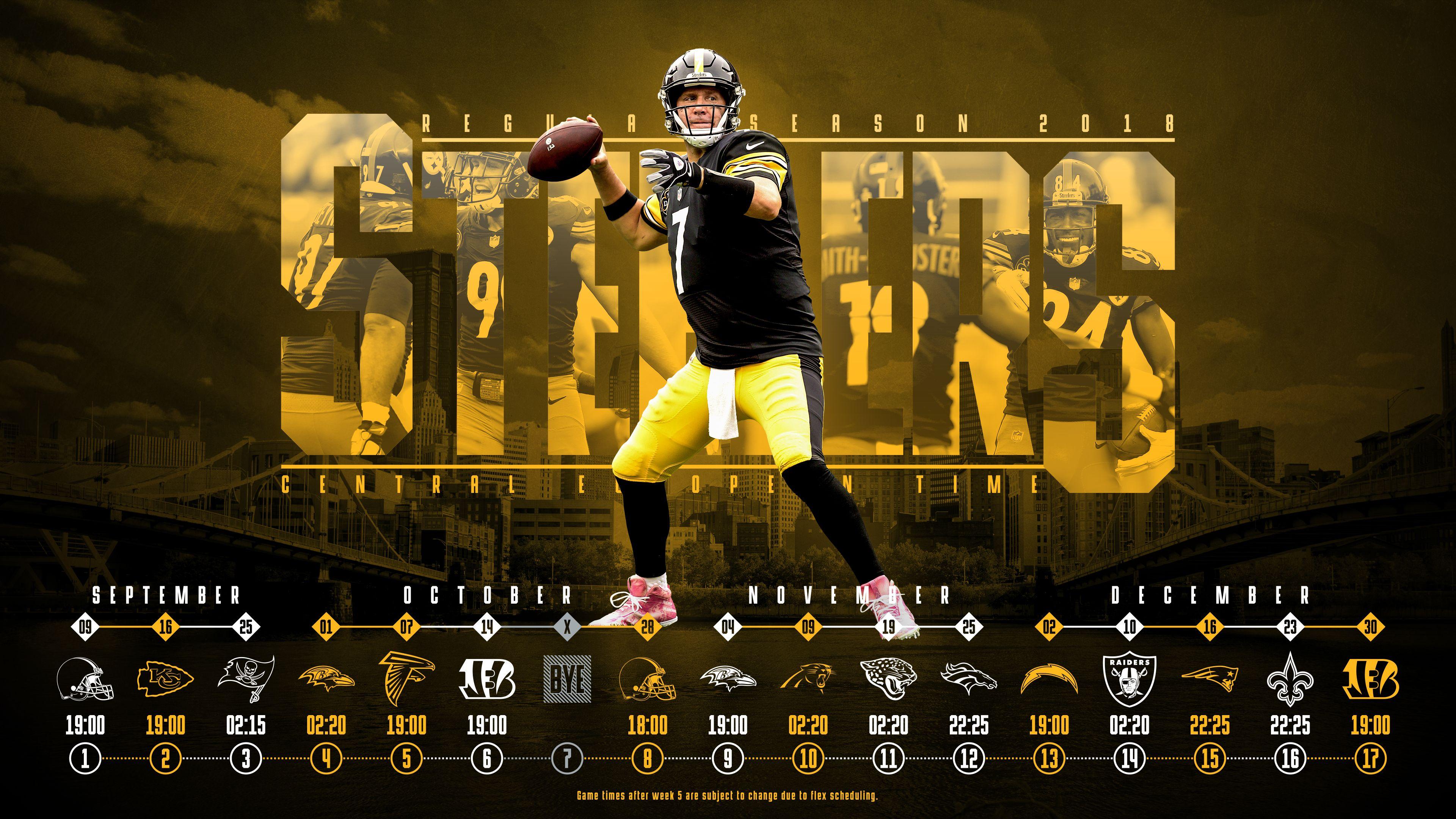 Schedule wallpaper for the Pittsburgh Steelers Regular