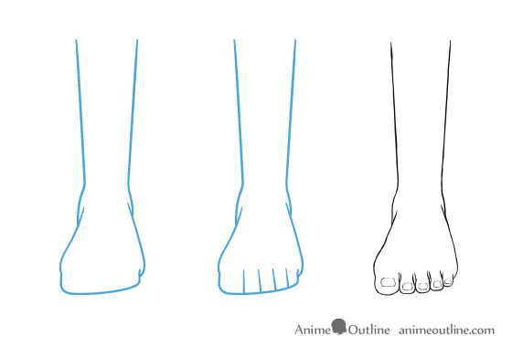How To Draw Anime And Manga Feet From Different Views Animeoutline In 2020 Feet Drawing Anime Drawings Drawings