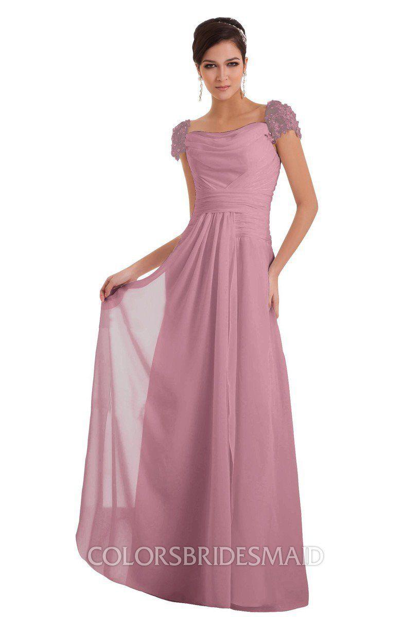 f51a2db4375a ColsBM Carlee Elegant A-line Wide Square Short Sleeve Appliques Bridesmaid  Dresses #colsbm #bridesmaids #bridesmaiddress #weddings .