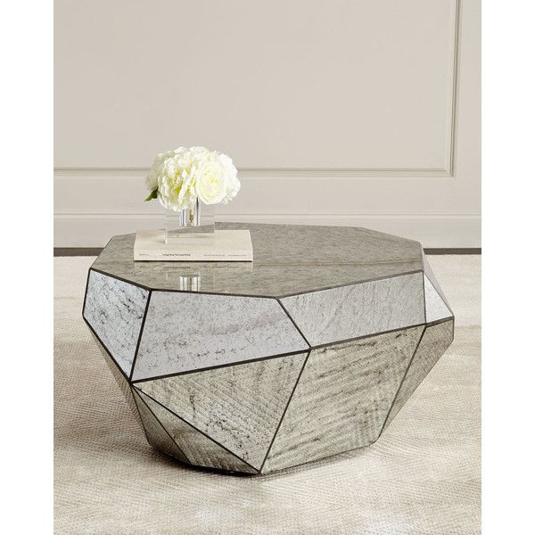 Dimensional Antiqued Mirror Coffee Table 1 099 Liked On