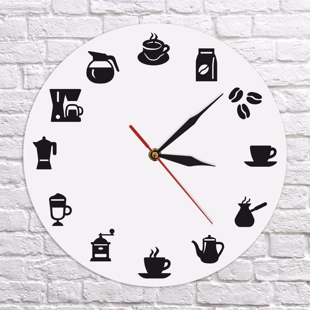Coffee Time 3d Orologio Da Parete Design Moderno Wall Art Decor Per Caffè Orolo Art Caffè Coffee Decor In 2020 Kitchen Clocks Cafe Wall Art Wall Clock Modern