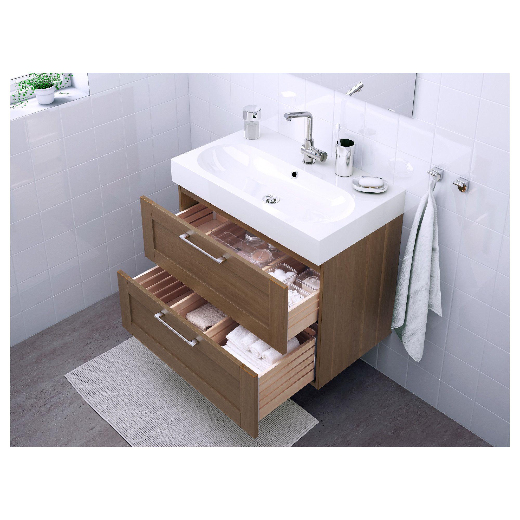 ikea godmorgon br viken sink cabinet with 2 drawers walnut rh pinterest co uk