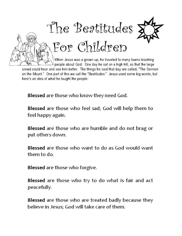 486cfa6b1768 beatitudes.pdf | Catholic kids | Beatitudes, Beatitudes for kids ...