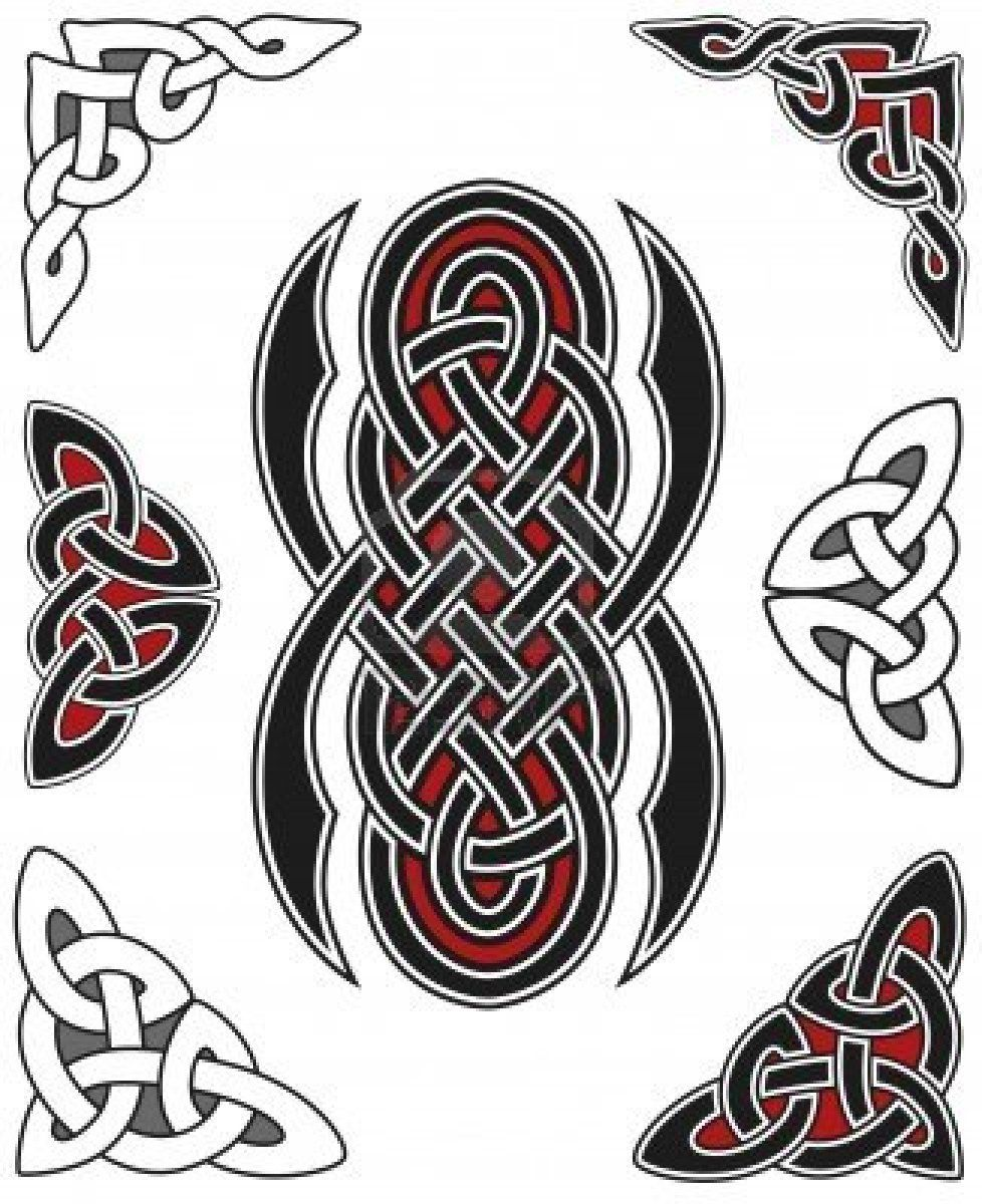 set-of-celtic-design-elements | Celtics Designs | Pinterest | Celta ...