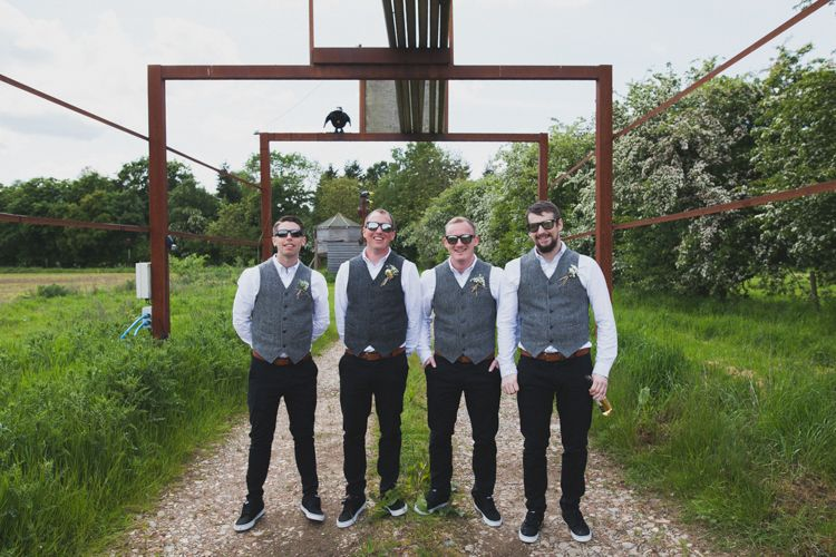 Tweed Waistcoat Groomsmen Chinos Vans Groom Indie Rustic DIY Fun Wedding Party http://www.sallytphotography.com/