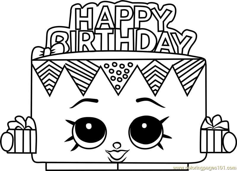picture relating to Shopkins Coloring Pages Printable named Birthday Betty Shopkins Coloring Site - Cost-free Shopkins