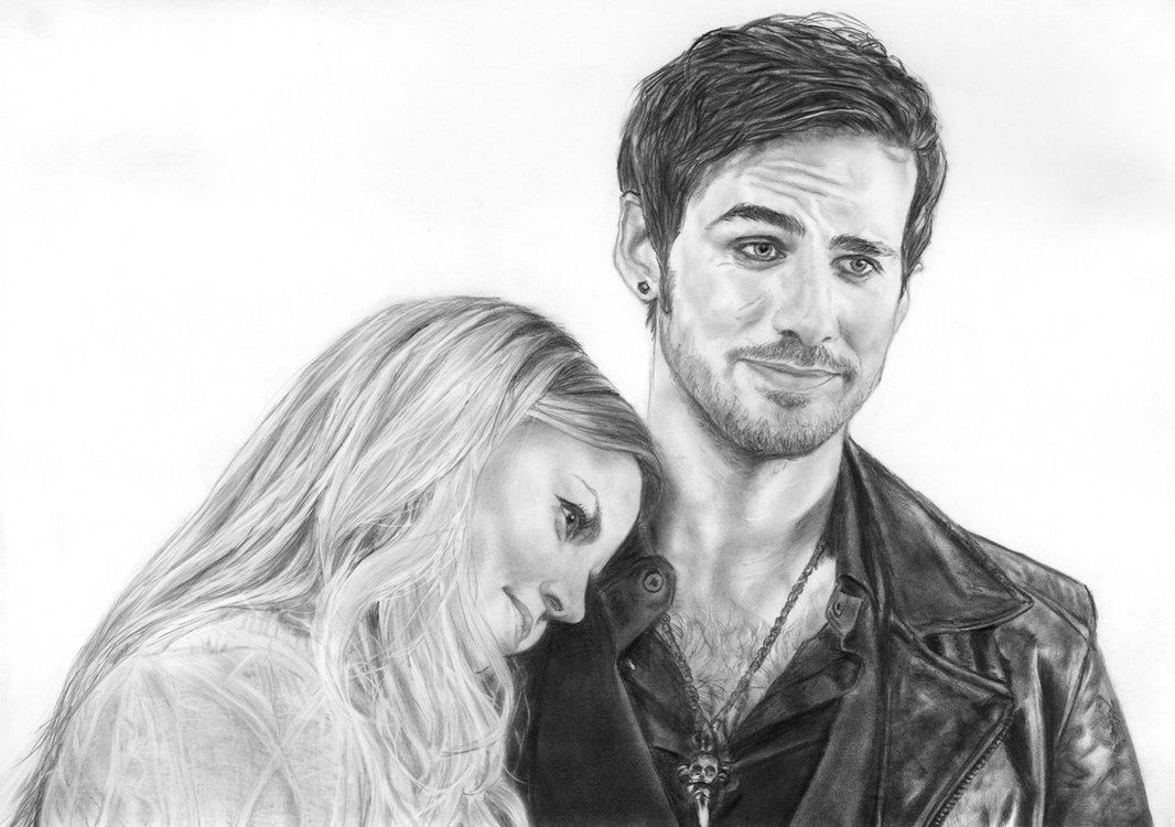 Hook and Emma drawing