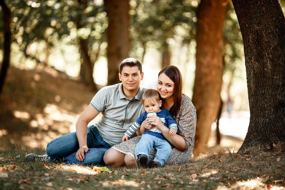 Профессиональная съемка семьи фото