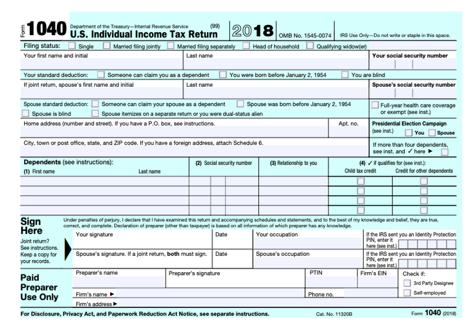 form 1040 business income  IRS Releases New Not-Quite-Postcard-Sized Form 14 For 14 ...