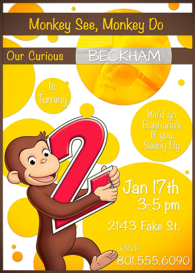 Happy Birthday Beckham Curious George themed Birthday Party