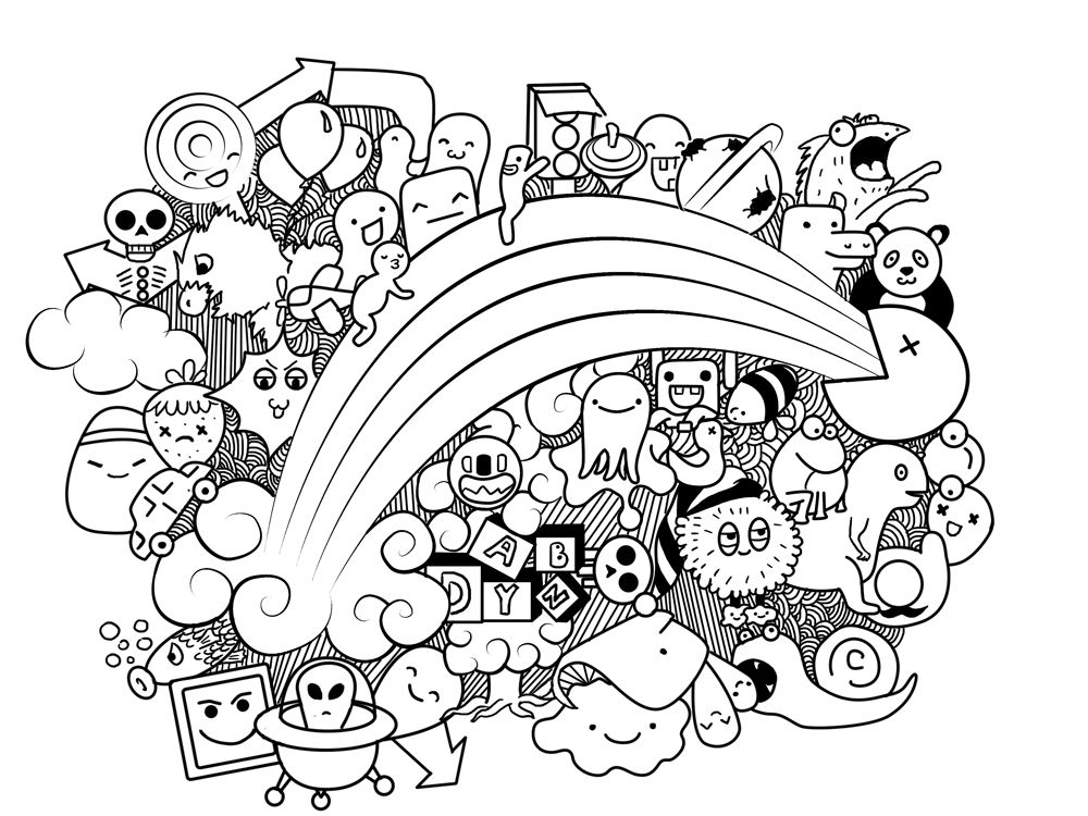 Doodle art by shepilova doodle me crazy pinterest for Doodle art monster