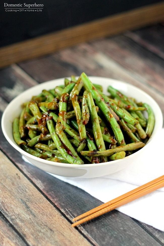 copycat pf chang's spicy green beans  this is the best