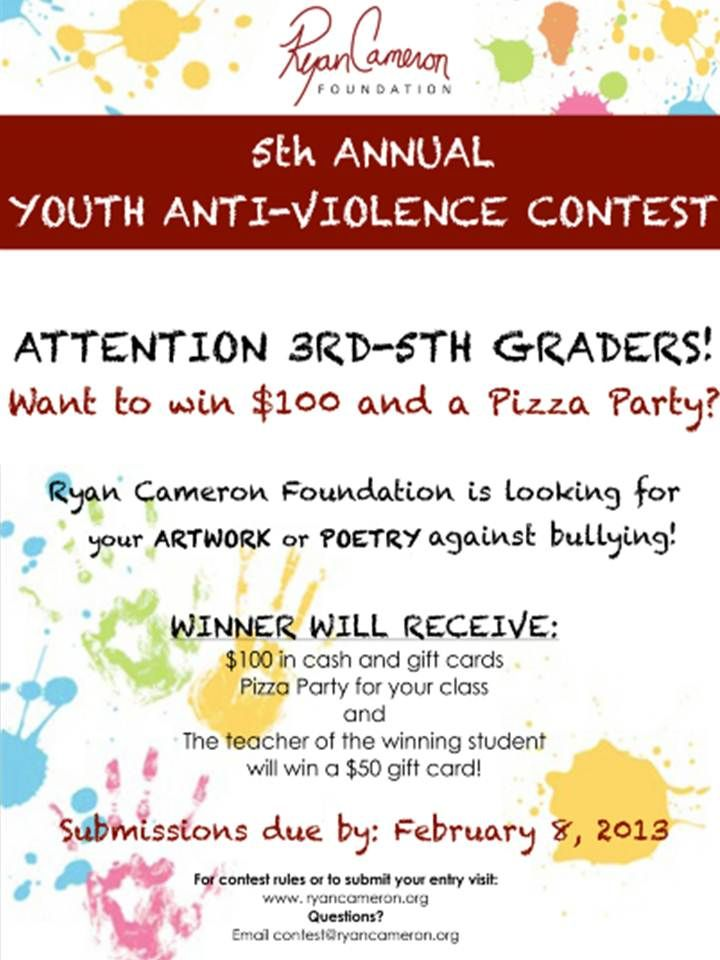 Pin On 5th Annual Anti Violence Youth Contest Essay