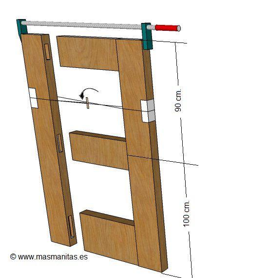 Como hacer puerta de madera manualidades pinterest for Como hacer una puerta de metal